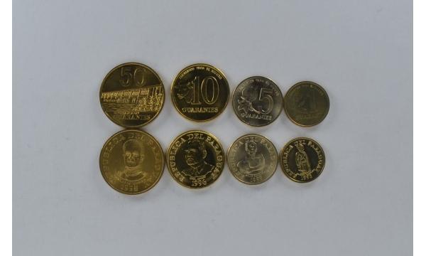 Paragvajus 4 monetų rinkinys