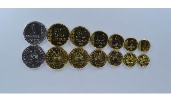 Tadžikistanas 7 monetų rinkinys