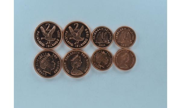 Folklando salos 4 monetų rinkinys