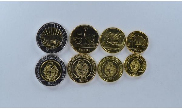 Urugvajus 4 monetų rinkinys