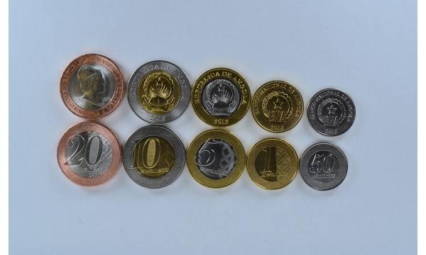 Angola 5 monetų rinkinys
