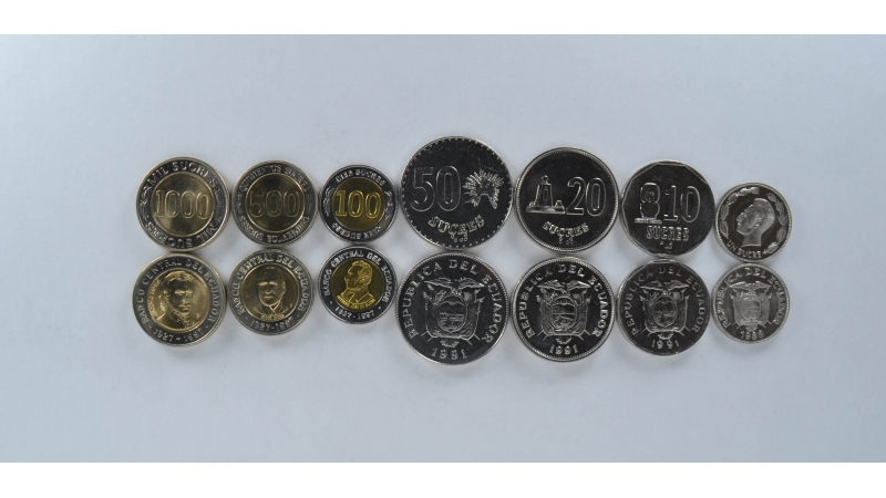 Ekvadoras 7 monetų rinkinys