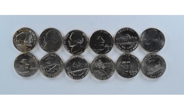 JAV 6 monetu rinkinys proginiai