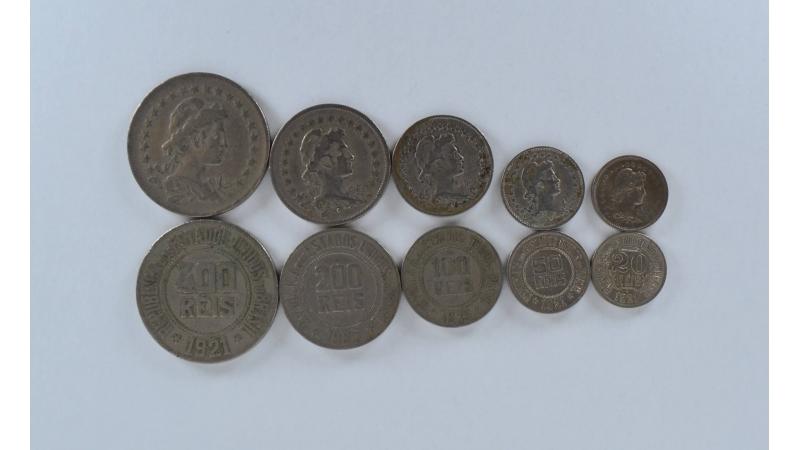 Brazilija 5 monetų rinkinys