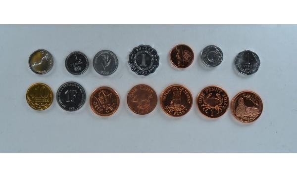 14 monetų rinkinys