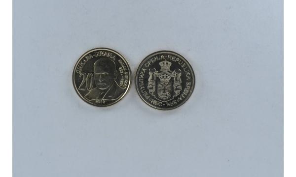 Serbija 20 Dinara M. Pupin 2012