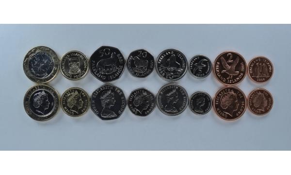 Folklando salos 8 monetų komplektas