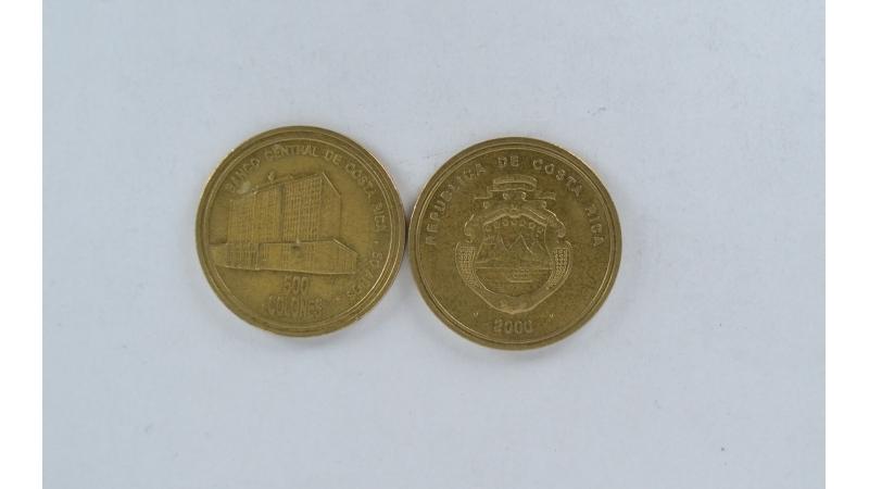 Kosta Rika 500 Colones 2000m. Proginė