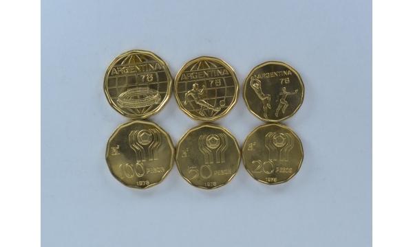 Argentina 3 monetų rinkinys