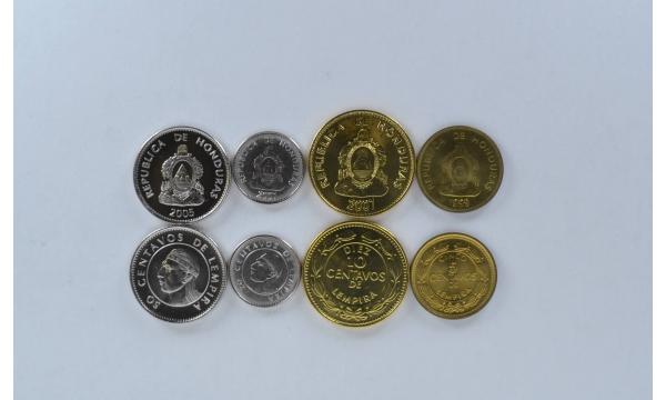 Hondūras 4 monetu rinkinys