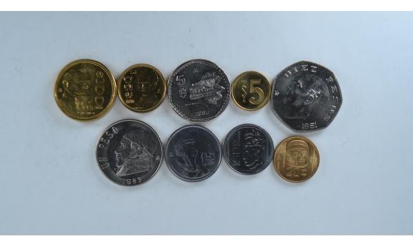 Meksika 9 monetų rinkinys