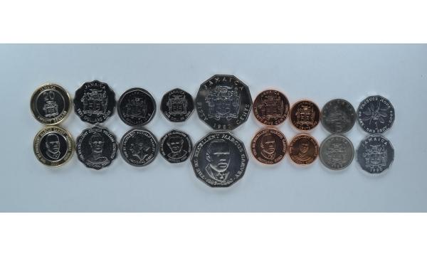 Jamaika 9 monetų komplektas