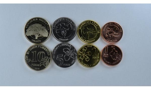 Argentina 4 monetų rinkinys 2017-2018