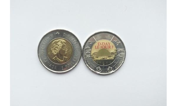 Kanada 2 doleriai 2019 proginė (D diena)