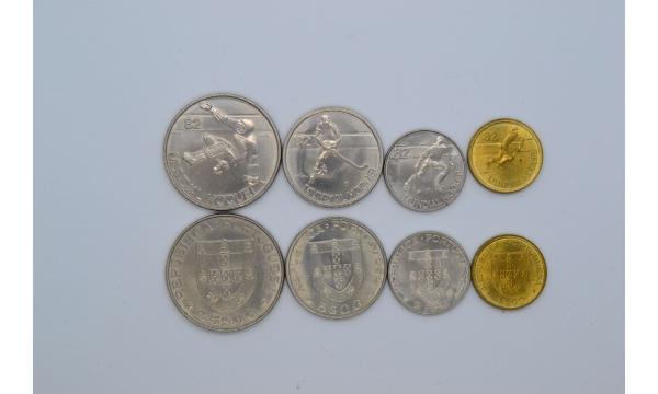 Portugalija 1982m. Gatvės ritulys 4 monetų rinkinys