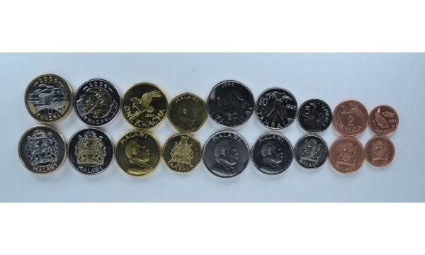 Malawi 9 coin set