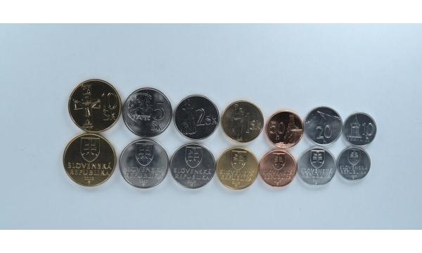 Slovakija 7 monetų rinkinys