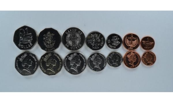 Saliamono salos 7 monetų rinkinys