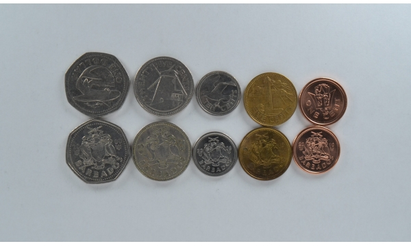 Barbados 5 coin set