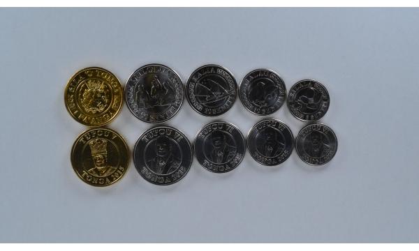 Tonga 5 monetų rinkinys 2015
