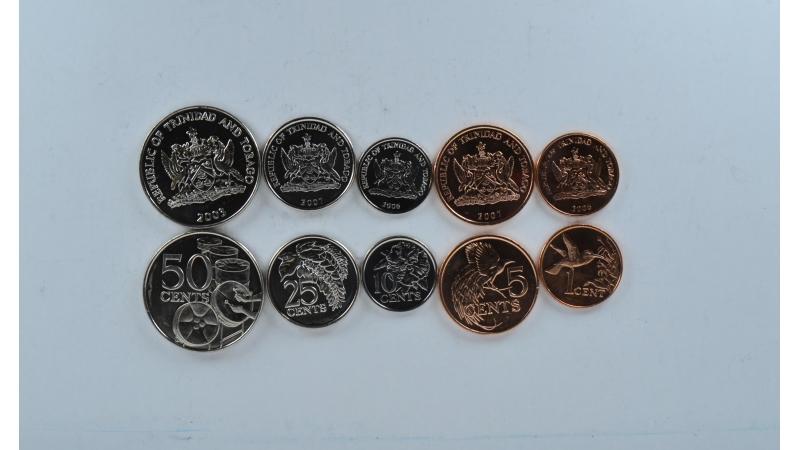 Trinidadas ir Tobagas 5 monetų rinkinys