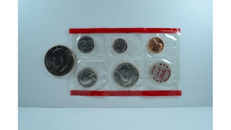 JAV kalyklos komplektas + 1 doleris