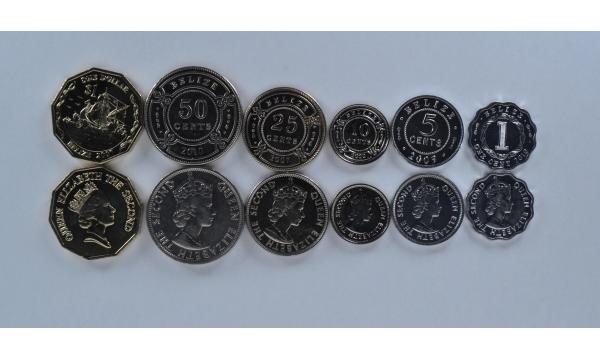 Belizas 6 monetų rinkinys