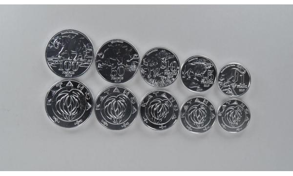 Katanga 5 monetų rinkinys 2017