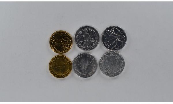 San Marinas 3 monetų rinkinys