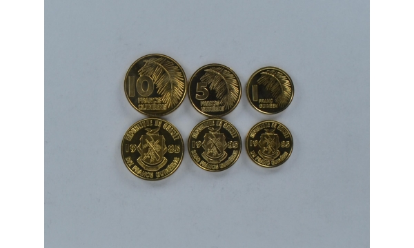 Gvinėja 3 monetų rinkinys