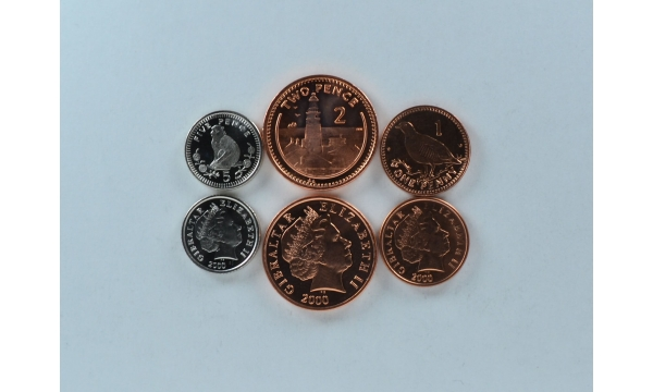 Gibraltaras 3 monetų rinkinys