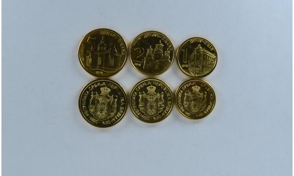 Serbija 3 monetų rinkinys