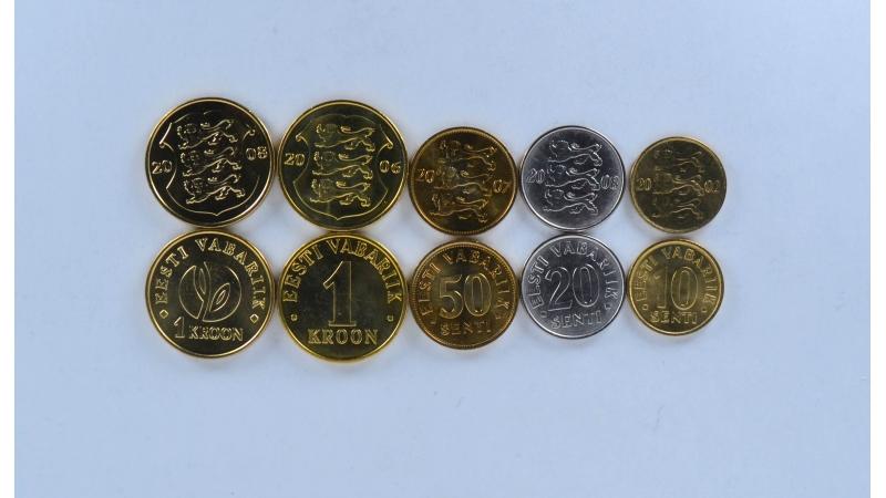 Estija 5 monetų rinkinys