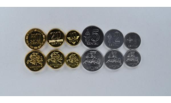 Lietuva 6 monetų rinkinys