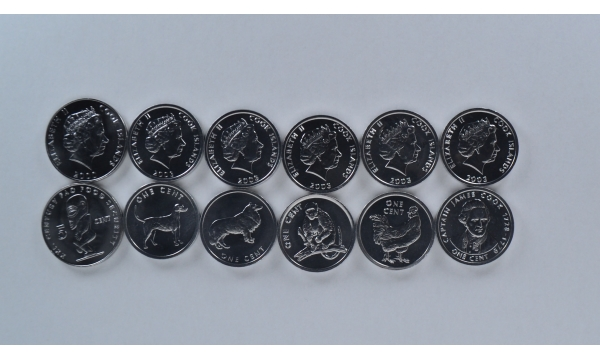 Kuko salos 6 monetų rinkinys