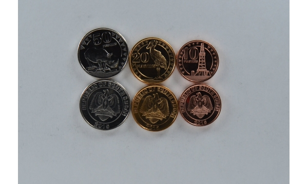 Pietų Sudanas 3 monetų rinkinys
