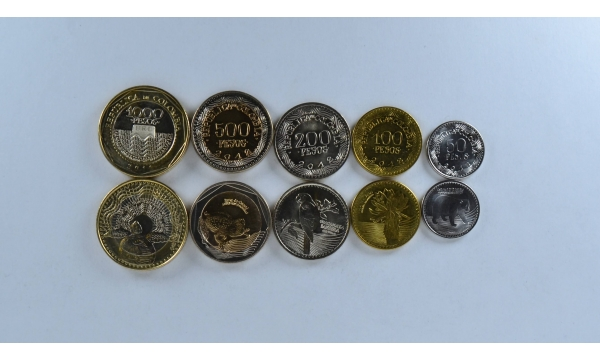Kolumbija 5 coin set